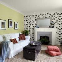 сочетание светлых обоев в декоре гостиной картинка