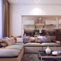 сочетание светлых штор в дизайне квартире картинка