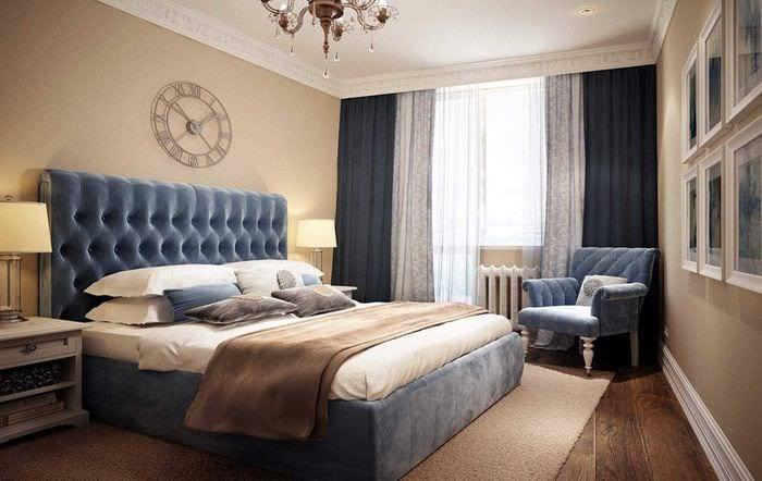 сочетание темных цветов в интерьере спальни