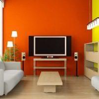 сочетание яркого оранжевого в интерьере спальни с другими цветами фото