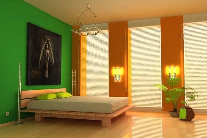 сочетание светлого оранжевого в интерьере кухни с другими цветами