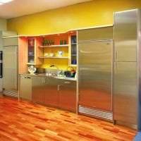сочетание темного оранжевого в стиле кухни с другими цветами картинка