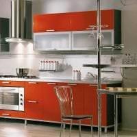 сочетание яркого оранжевого в дизайне комнаты с другими цветами картинка