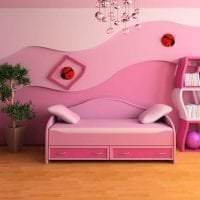 сочетание светлого розового в дизайне квартиры с другими цветами фото