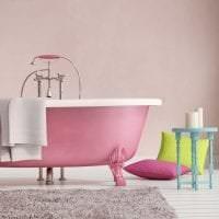 сочетание светлого розового в дизайне дома с другими цветами фото