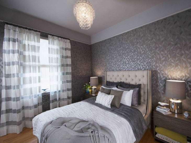 сочетание светлого серого цвета в интерьере гостиной