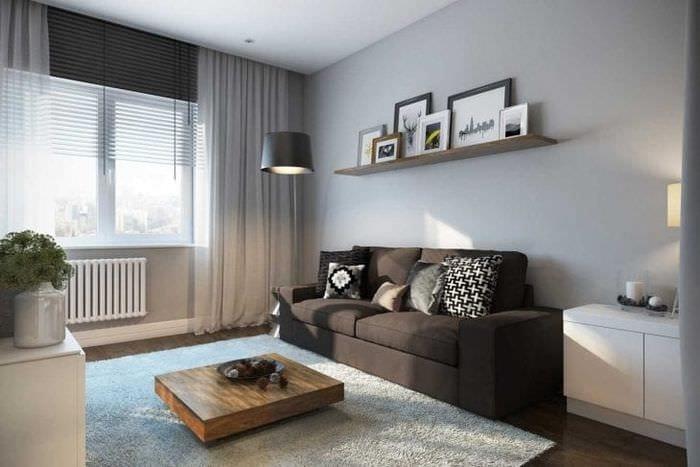 сочетание темного серого цвета в стиле квартиры