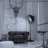 сочетание темного серого цвета в стиле квартиры картинка