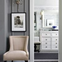сочетание светлого серого цвета в стиле спальни фото