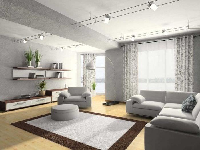 сочетание яркого серого в дизайне квартиры с другими цветами
