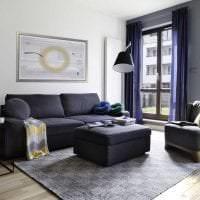 сочетание темного серого в интерьере спальни с другими цветами картинка