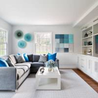 сочетание ярких цветов в стиле квартире картинка