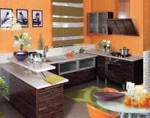 комбинирование светлых цветов в декоре кухни фото