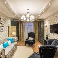 комбинирование светлых обоев в интерьере гостиной фото
