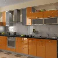 комбинирование темных оттенков в интерьере кухни фото
