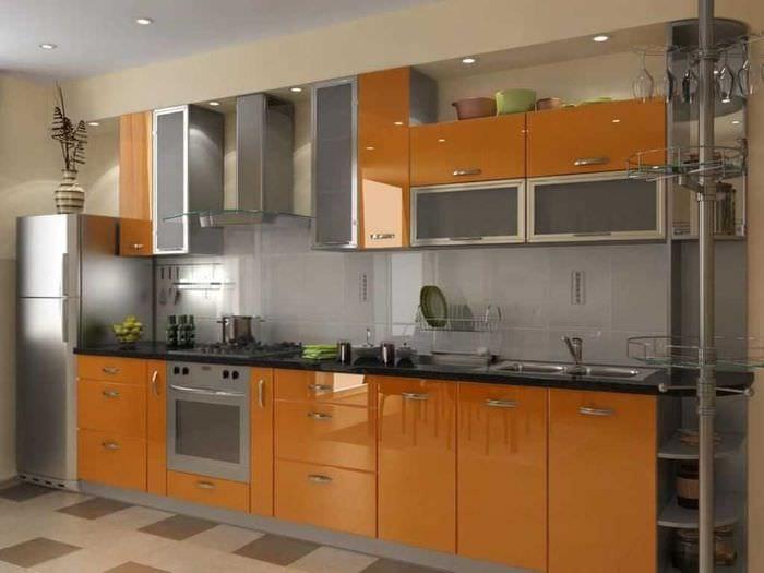 комбинирование темных оттенков в дизайне кухни