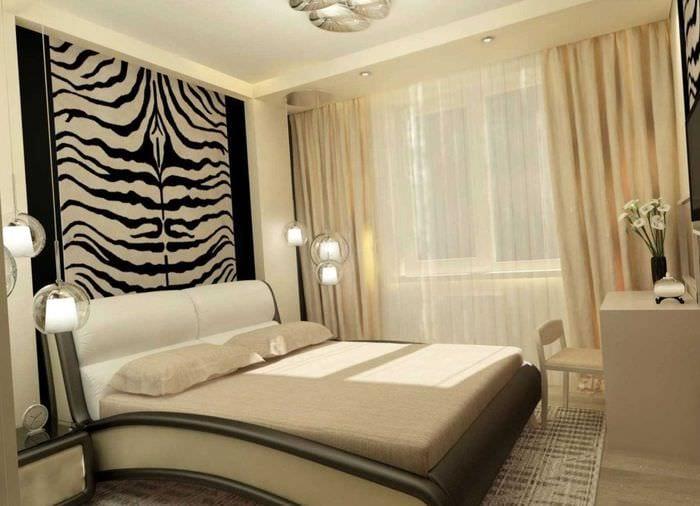 комбинирование светлых цветов в фасаде спальни