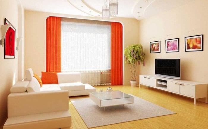 сочетание темного оранжевого в стиле спальни с другими цветами