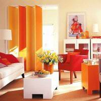 сочетание яркого оранжевого в декоре дома с другими цветами картинка