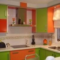 сочетание яркого оранжевого в дизайне кухни с другими цветами картинка