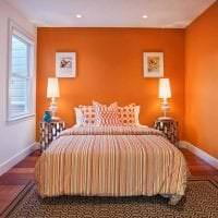 сочетание яркого оранжевого в декоре дома с другими цветами фото