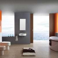 сочетание светлого оранжевого в стиле дома с другими цветами картинка