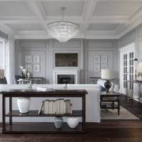 сочетание темного серого цвета в декоре квартиры фото