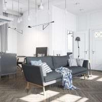 сочетание темного серого цвета в дизайне гостиной фото