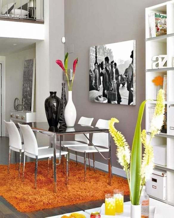 сочетание темного серого в декоре квартиры с другими цветами
