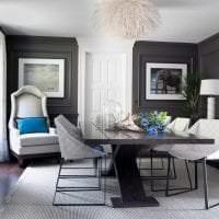 сочетание светлого серого в интерьере комнаты с другими цветами картинка