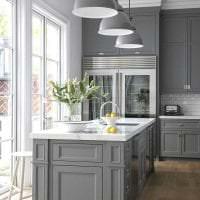 сочетание светлого серого в дизайне спальни с другими цветами фото