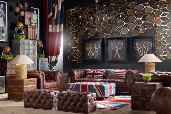 яркий стиль комнаты в винтажном стиле