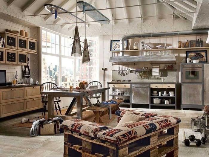 современный фасад спальни в винтажном стиле