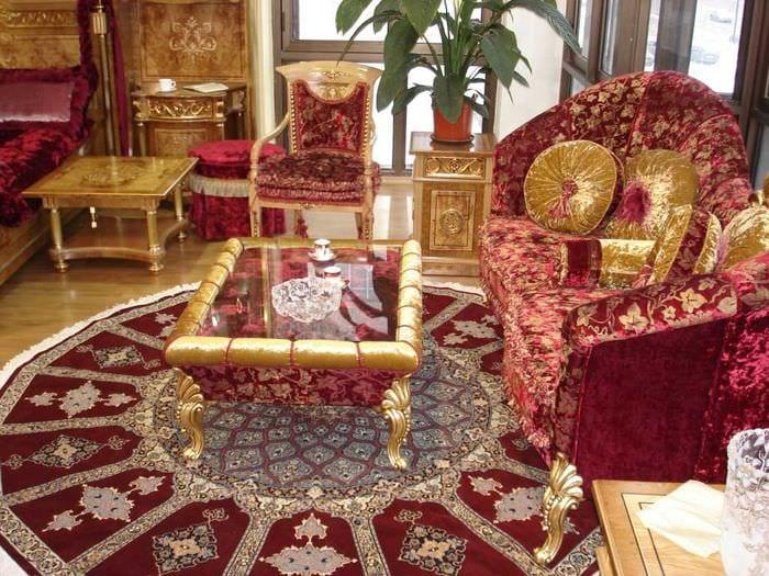красивый интерьер комнаты в восточном стиле