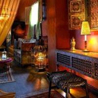 современный дизайн комнаты в восточном стиле фото