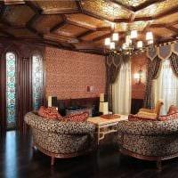 красивый дизайн гостиной в готическом стиле фото