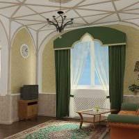 яркий интерьер комнаты в готическом стиле фото