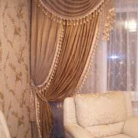 классическое декорирование окон аксессуарами фото