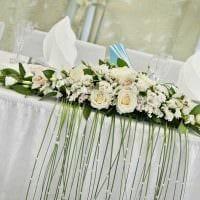 необычное украшение свадебного зала ленточками фото