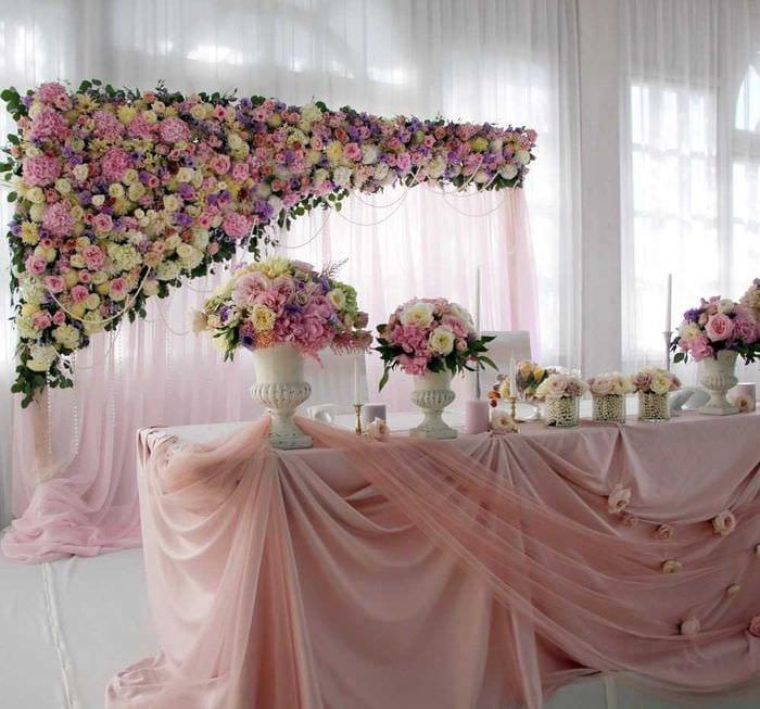 свадебное оформление зала и стола фото каждом номере