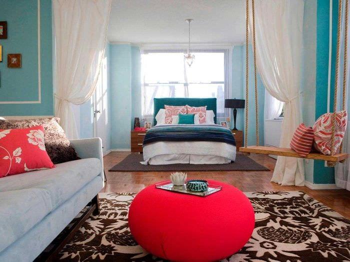 красивый стиль гостиной спальни