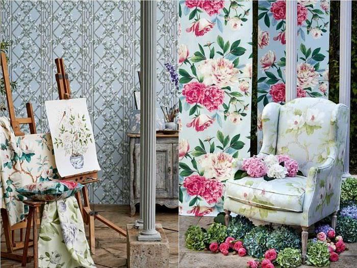 красивый интерьер комнаты в весеннем стиле