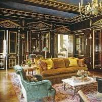 светлый интерьер гостиной в стиле ампир картинка