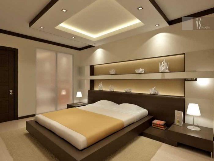 оригинальный дизайн спальной комнаты