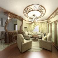 яркий декор гостиной в стиле модерн фото