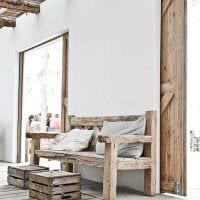 красивый стиль комнаты со спилами дерева картинка
