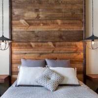 светлый дизайн квартиры со старыми досками картинка