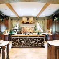 красивый дизайн гостиной в средиземноморском стиле фото