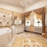 яркий дизайн комнаты в стиле ампир фото