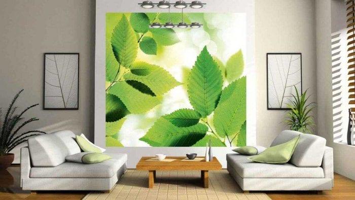 светлый дизайн комнаты в весеннем стиле